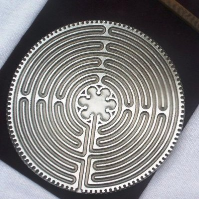 products chartres pewter labyrinth
